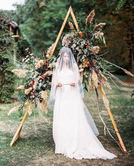 Wedding Altar Frame: Triangle Wedding Arch // A-frame Wedding Backdrop