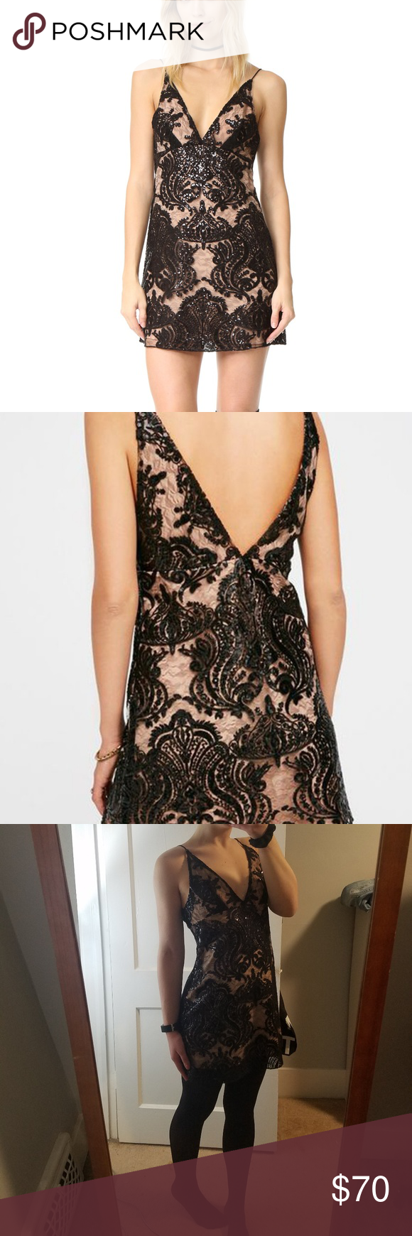 Free People Night Shimmers Dress Sz 4 | Shimmer dress, Dress