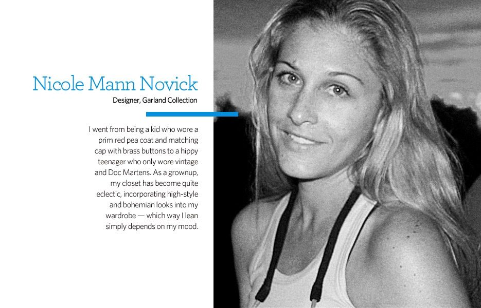 Features Editor and Garland Collection Designer Nicole Mann Novick in Style Discoveries - Glo.com