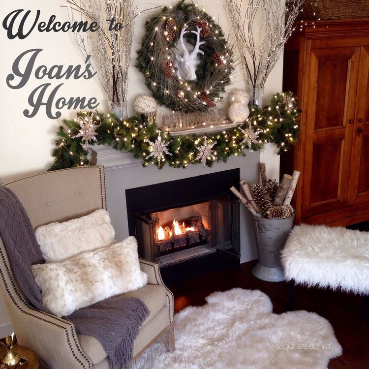 Christmas Home Tour 2 Ladies Style 2 Ladies A Chair In 2020 Christmas Mantel Decorations Christmas Decor Diy Christmas Mantle Decor