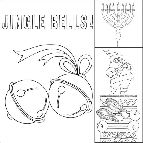 December Holiday Coloring Pages Make And Takes Coloring Pages Free Coloring Pages Santa Coloring Pages