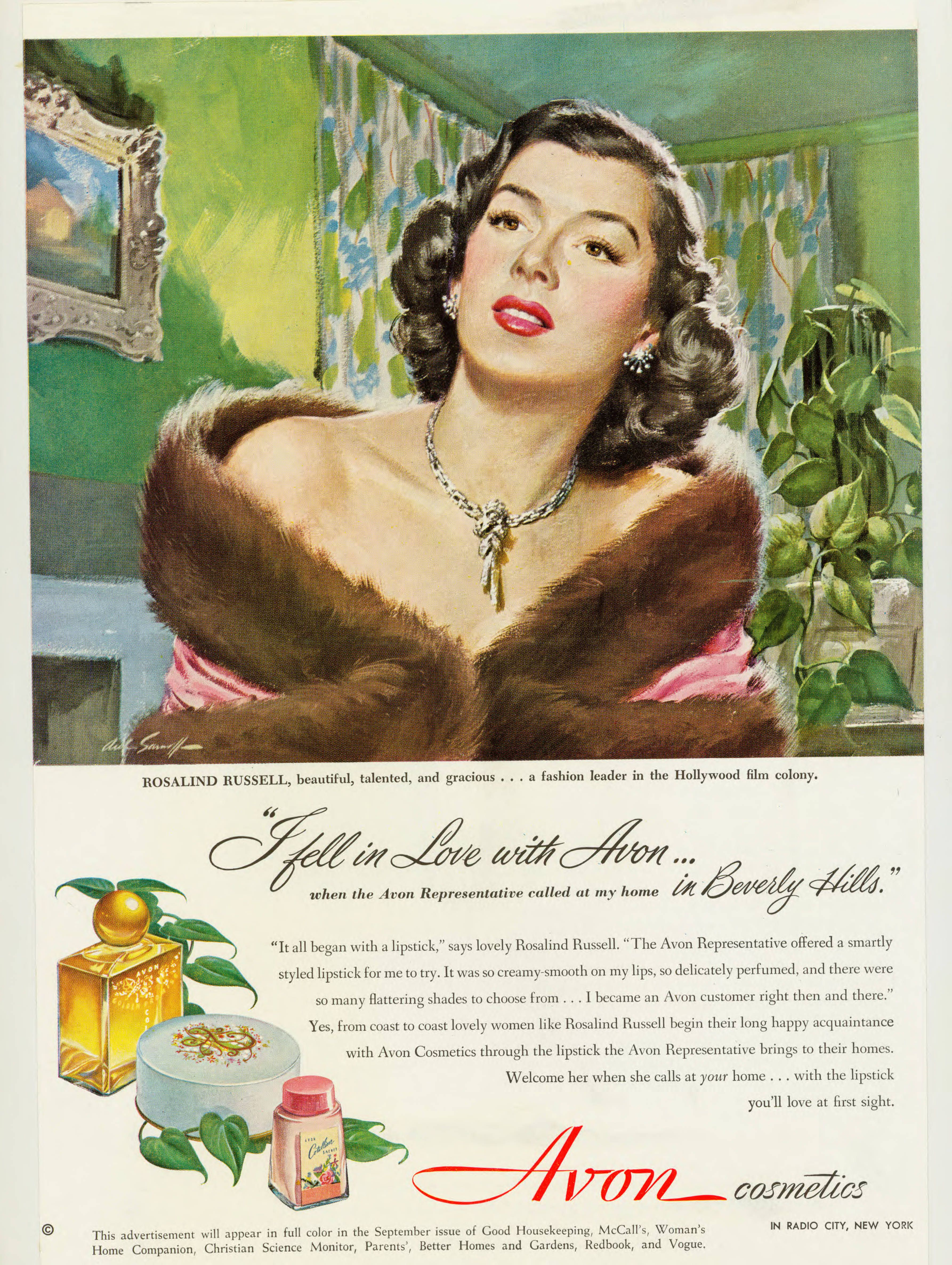 Rosalind Russell Avon ad.