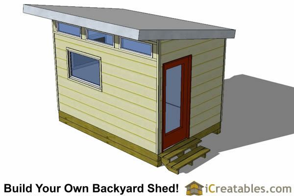 8x12 Modern Shed Front View Modern Shed Shed Plans Shed