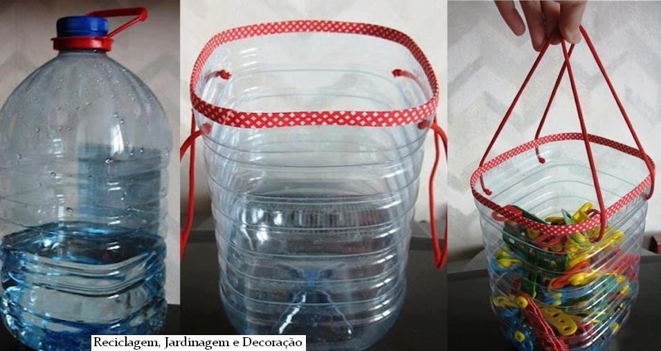 Idéia super bacana para organizar os prendedores de roupas ou os brinquedos da criançada!