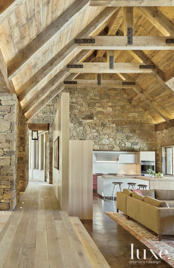 Farm building inspired mountain house luxesource luxe for Luxury rustic homes
