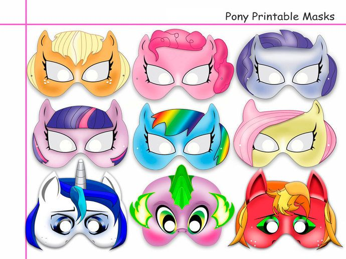 Unique Pony Printable Masks party mask girl party birthday