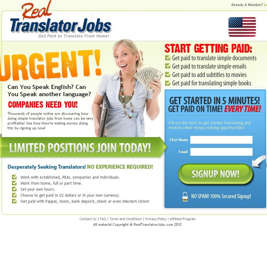 Real Translator Jobs Is A Scam Website That Ideally Should Serve As Go Between With Their Database Of Companies In Need People Looking For Work