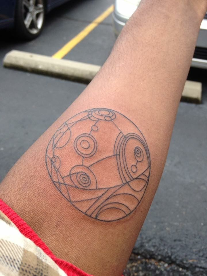 Holographic Map From Treasure Planet Tattoo By Kelly Prophecyink