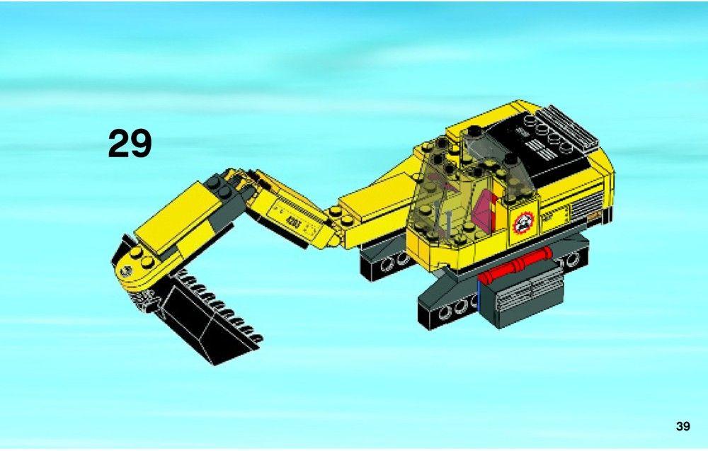 City Excavator Transporter Lego 4203 Lego Lego City Sets Lego Instructions