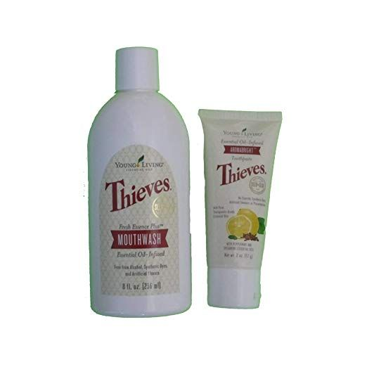 2 Pack Young Living Thieves Mouth Wash Aromabright Tooth