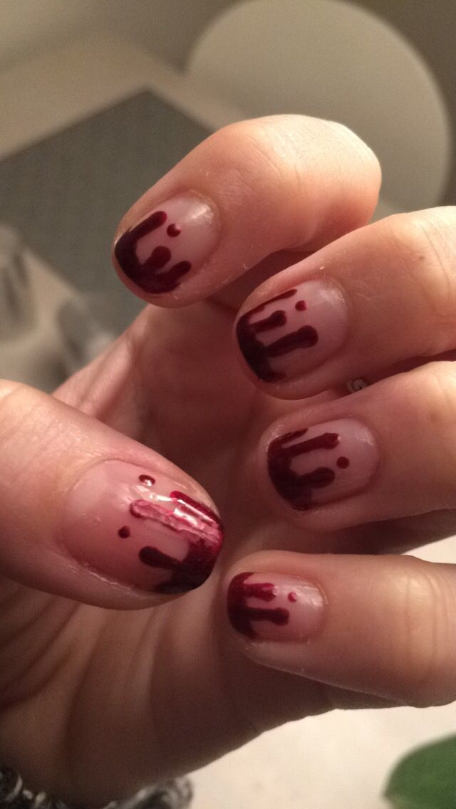 Bloody nails - halloween #red #vampire