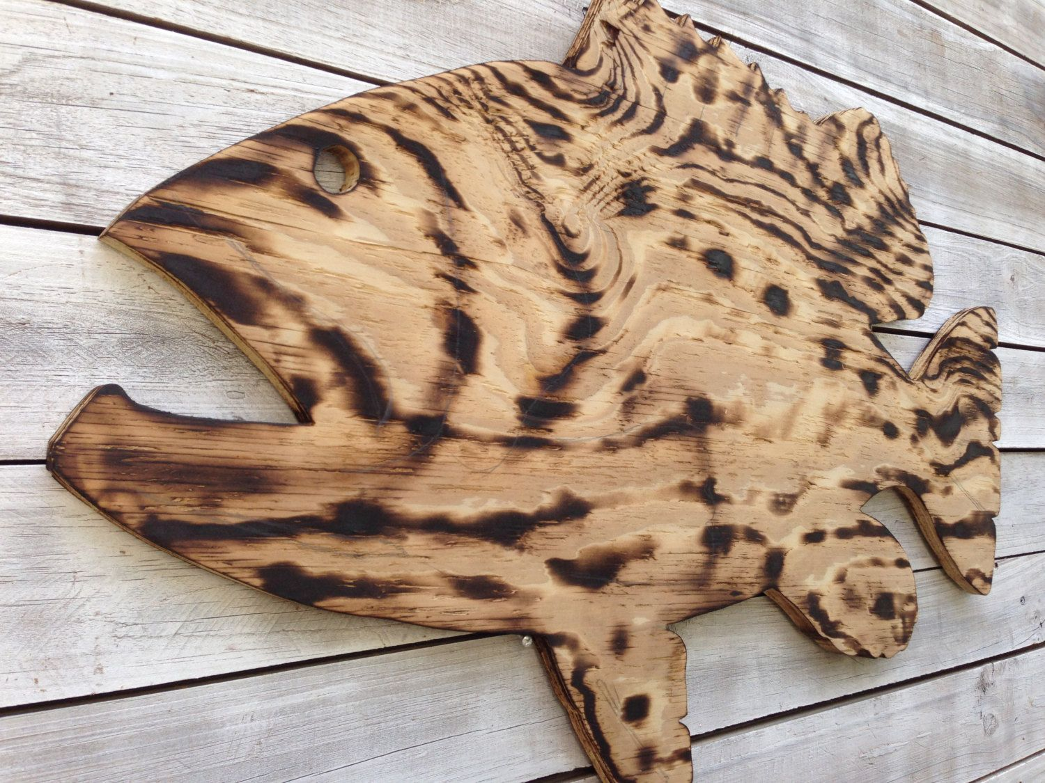 Large Goliath Grouper Wooden Sign Outdoor Fish Beach House Decor