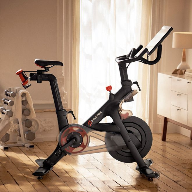 Peloton Cycle Exercise Bike With Indoor Cycling Classes Streamed Live Amp On Demand Peloton Cycle Indoor Cycling Class Exercise Bikes
