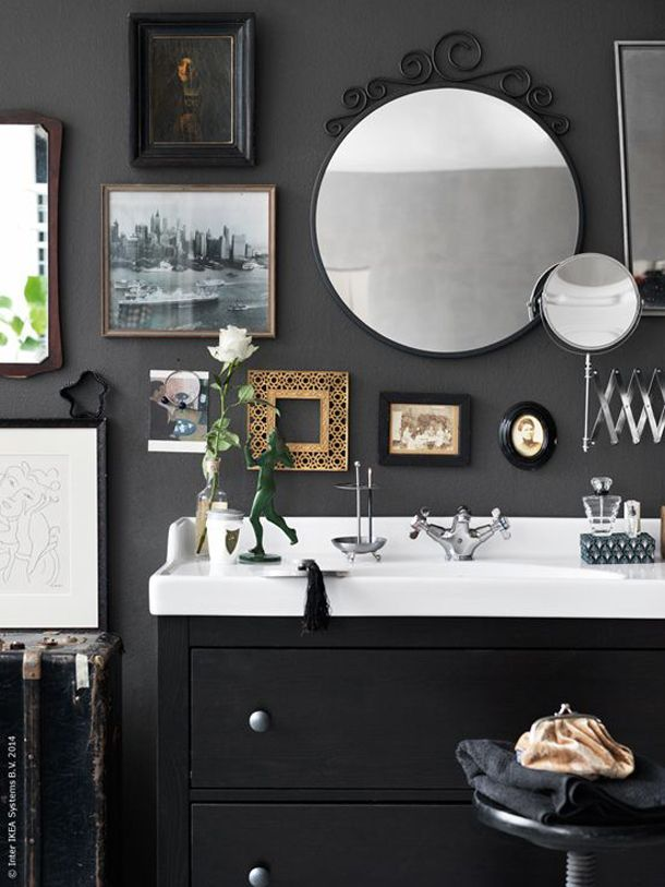 la commode vasque quand la salle de bains fait salon meuble vasque hemnes et vasque. Black Bedroom Furniture Sets. Home Design Ideas