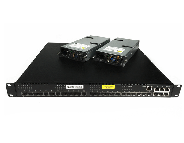 Quanta Lb6m 10gb 24 Port Sfp Switch Qy139a Dual Power Supply Rack Ears Included Power Supply Port Rack