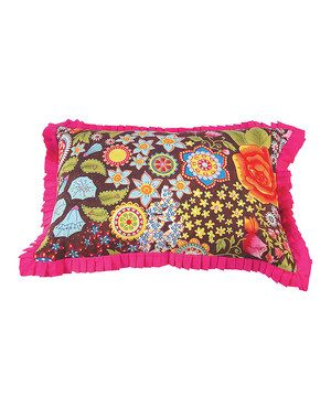 Love this Bohemian Bouquet Throw Pillow Cover by Karma Living on #zulily! #zulilyfinds