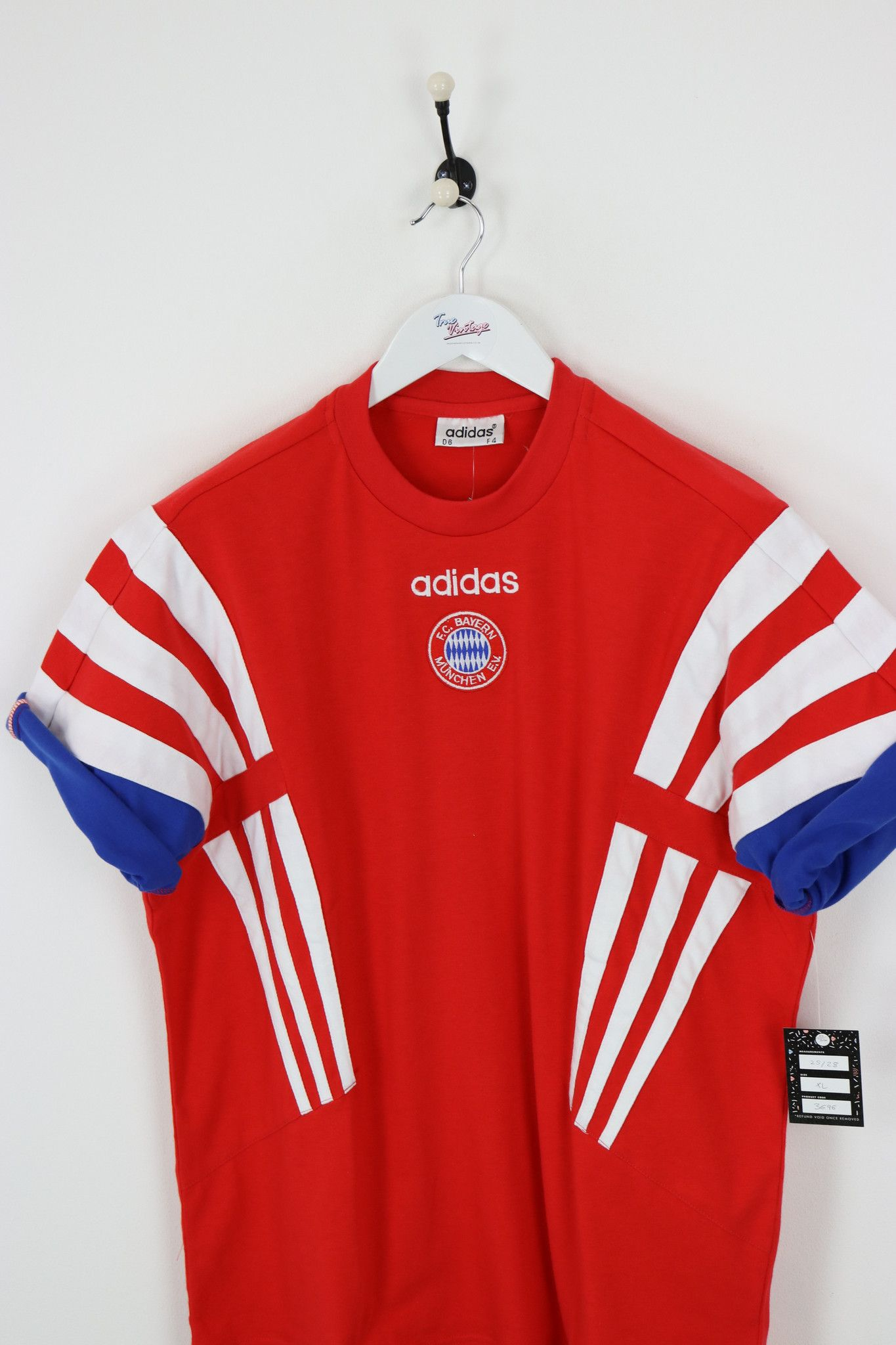 new with tags vintage adidas bayern munich t shirt. Black Bedroom Furniture Sets. Home Design Ideas