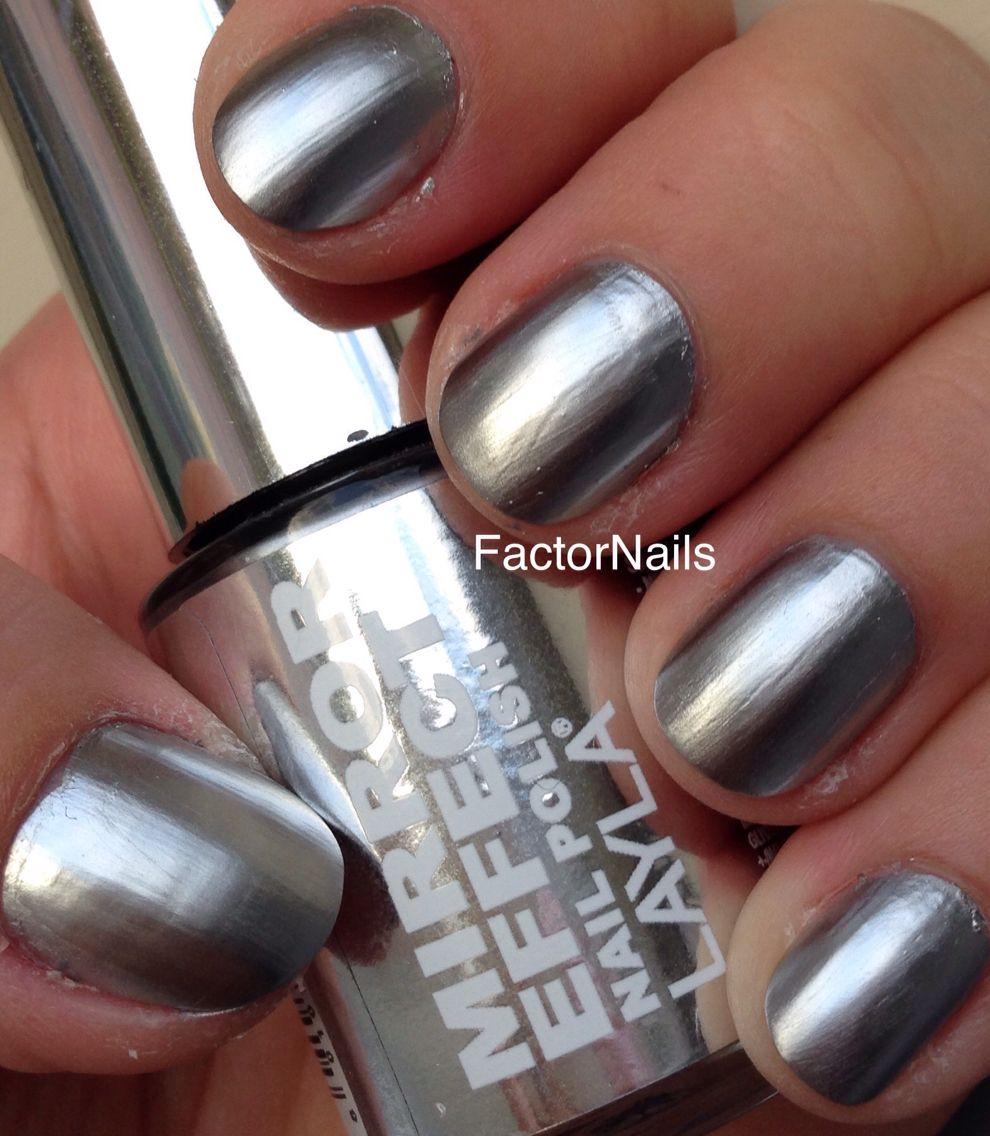 Foil/mirror polish tip Most ladies buff their nails to