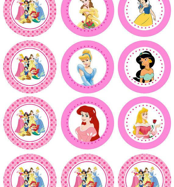 It is a picture of Terrible Disney Princess Cupcake Toppers Free Printable