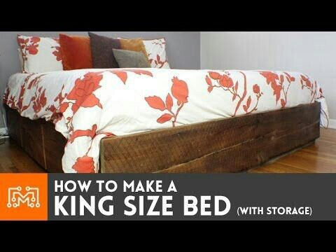 How to make a king size bed (with storage) | Woodworking | Pinterest ...