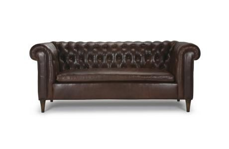 Dakota leather mini sofa, Barrymore Furniture (Toronto ...