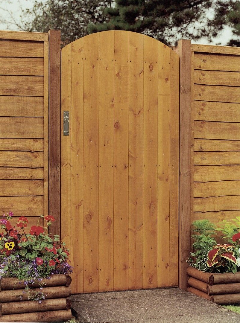 Side Entry Arch Gate Pressure Treated Timber Wooden Garden Gate Garden Gate Design Gates And Railings