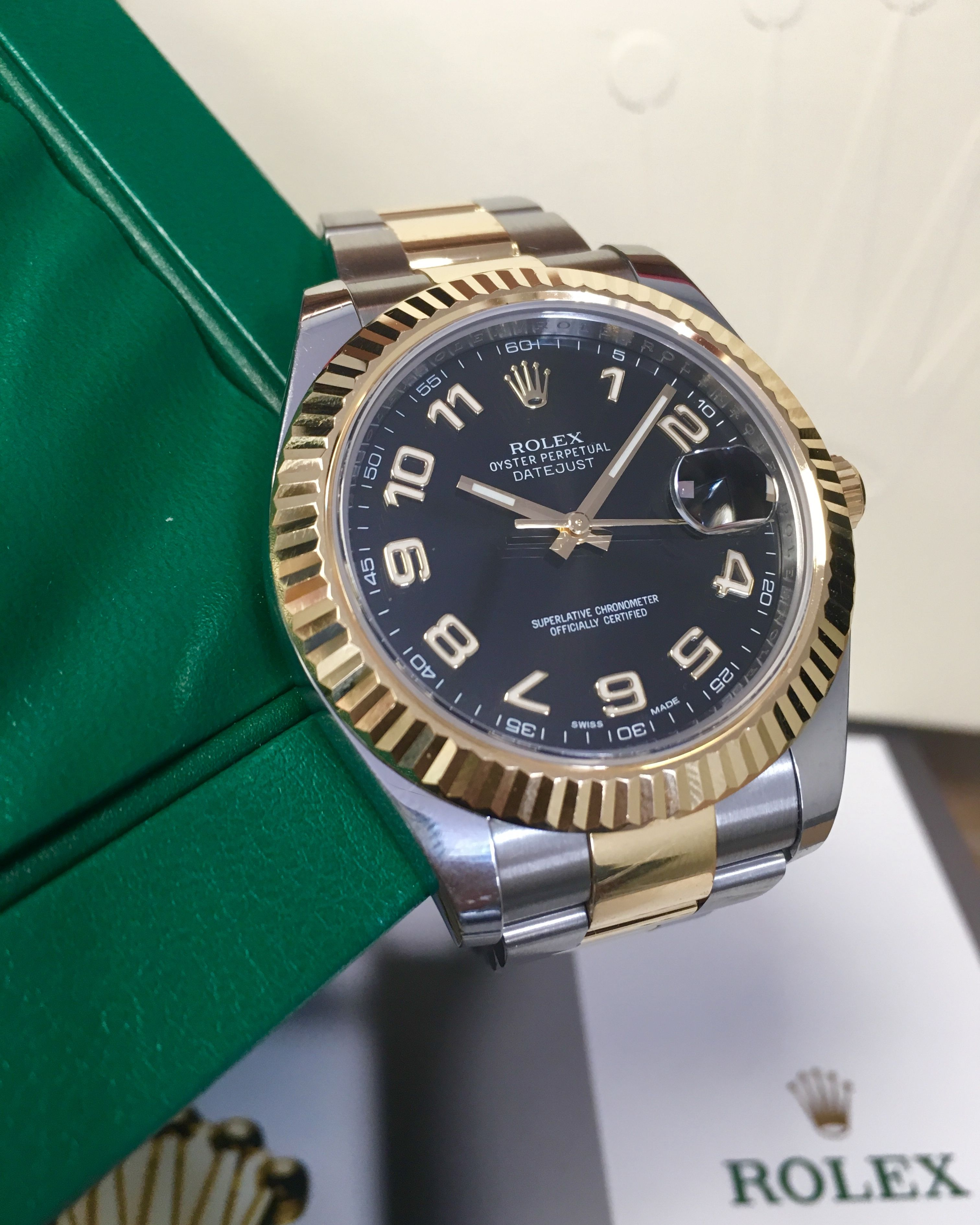 Rolex Datejust II Steel   Gold Black Arabic Dial 116333  9abc100f7a
