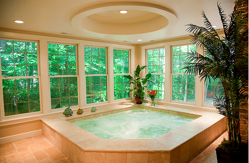 Ohhhh I Would Never Want To Get Out Of This Love Indoor Hot Tub Hot Tub Room Dream House
