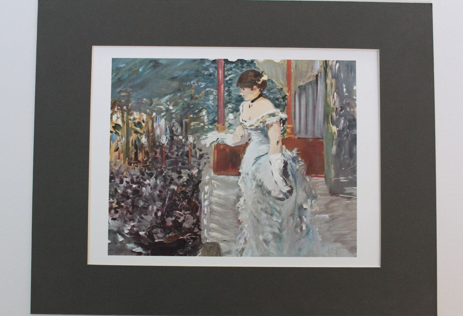 Singer at cafe concert fine art print by edouard manet mounted print painting impressionist
