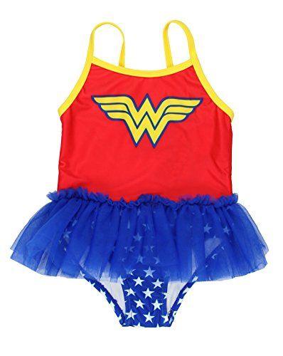6a0d351f36c24 Toddler Girls' Wonder Woman Swimsuit #GirlsSwimwear #ToddlerSwimwear # WonderWoman #