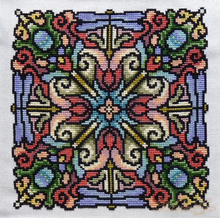 Pin von Anneke Huyser auf Ink Circles mandalas in cross stitch ...