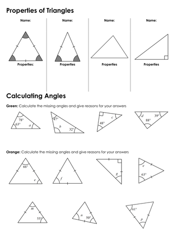 ks3 angles in triangles math pinterest triangle maths and