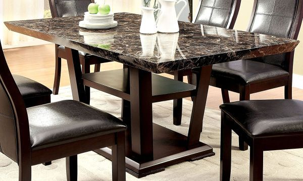 Marble Top Dining Table  Dining Furniture  Pinterest  Marble Awesome Marble Dining Room Sets 2018