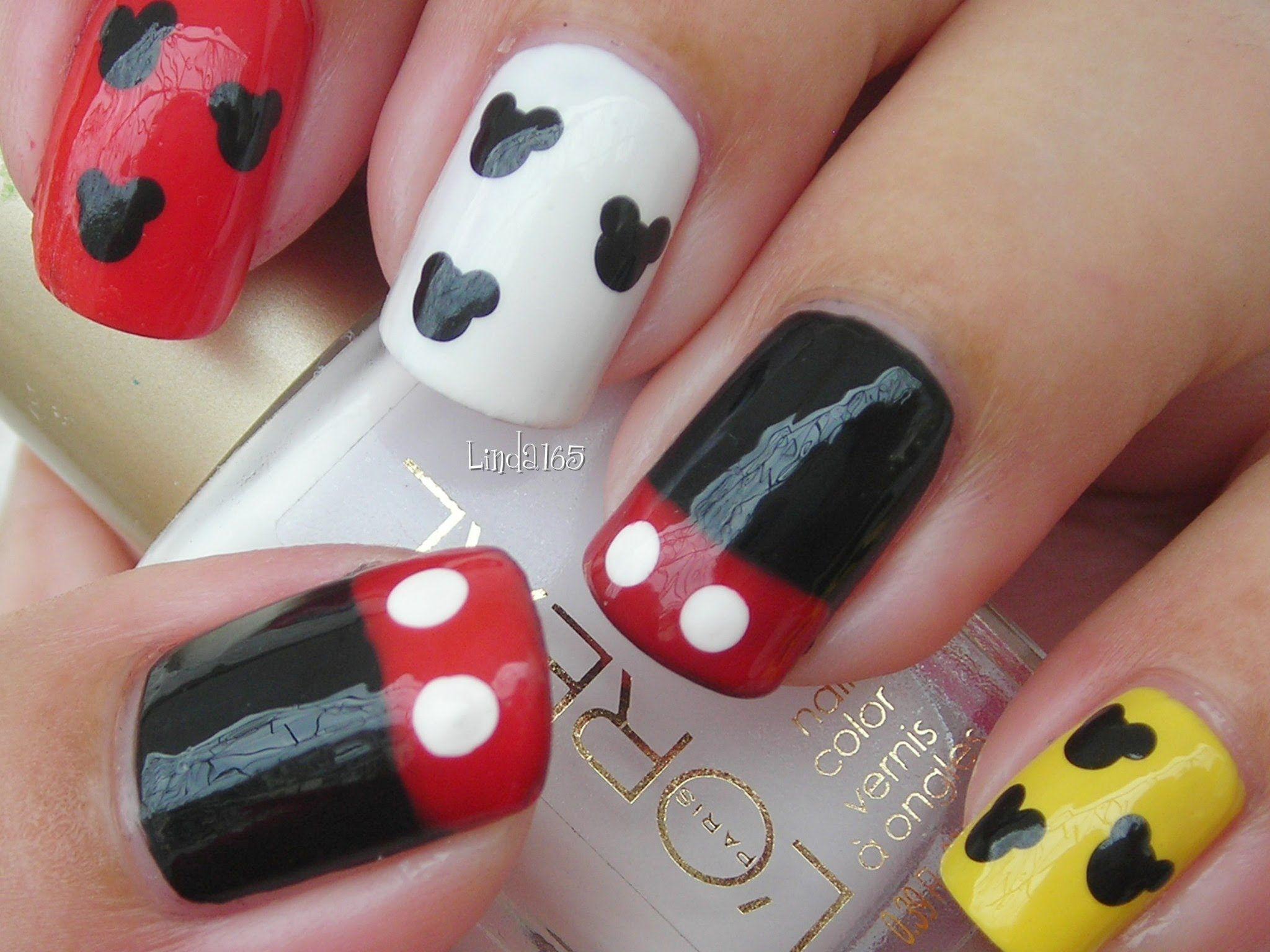 Nail Art - Mickey Mouse Nails - Decoracion de Uñas | COOL NAILS ...