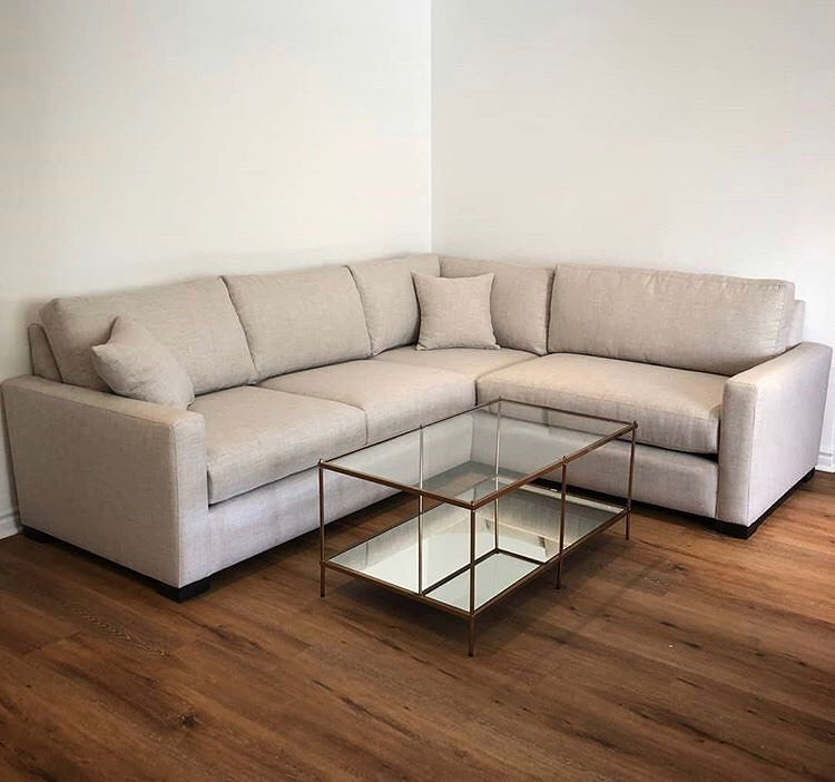 #recentdelivery L Shape Couch with Glass + Mirror Coffee ...