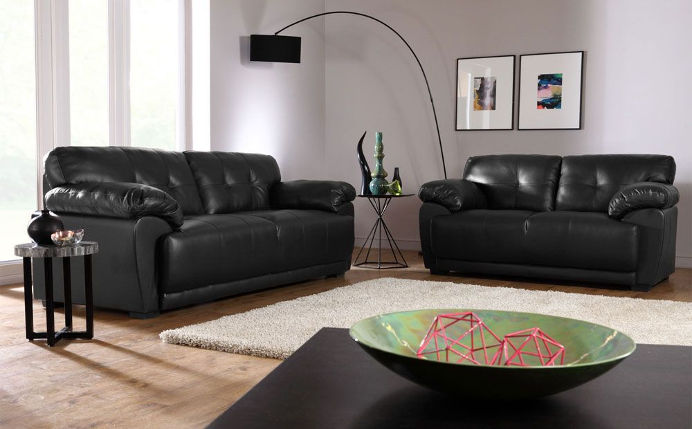 Sienna Black Leather Sofas At Furniture Choice From 299 99