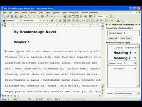 writersu0027 resource Manuscript Formatting in MS Word ♥♥ Writeru0027s - copy how to make a letter format on microsoft word 2007