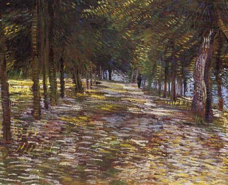Vincent van Gogh, Avenue in Voyer d´Argenson Park at Asnieres - 1887 on ArtStack #vincent-van-gogh #art