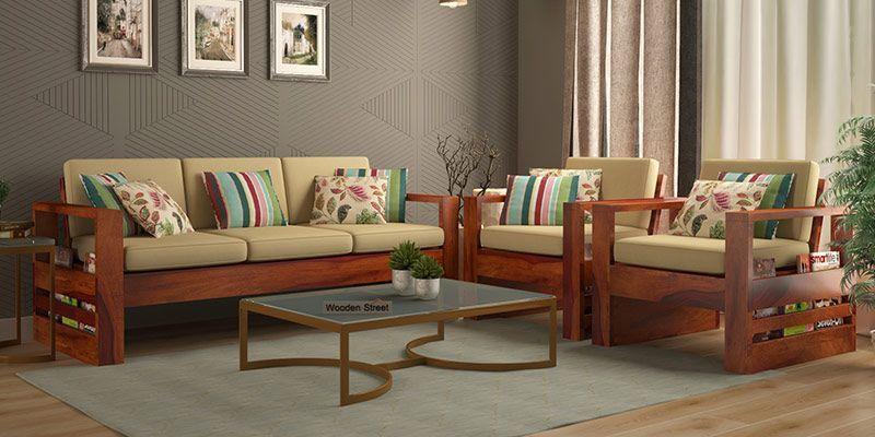 Wooden Sofa Set Buy Wooden Sofa Set Online In India Upto 55 Off Wooden Sofa Set Designs Sofa Set Designs Wooden Sofa Designs