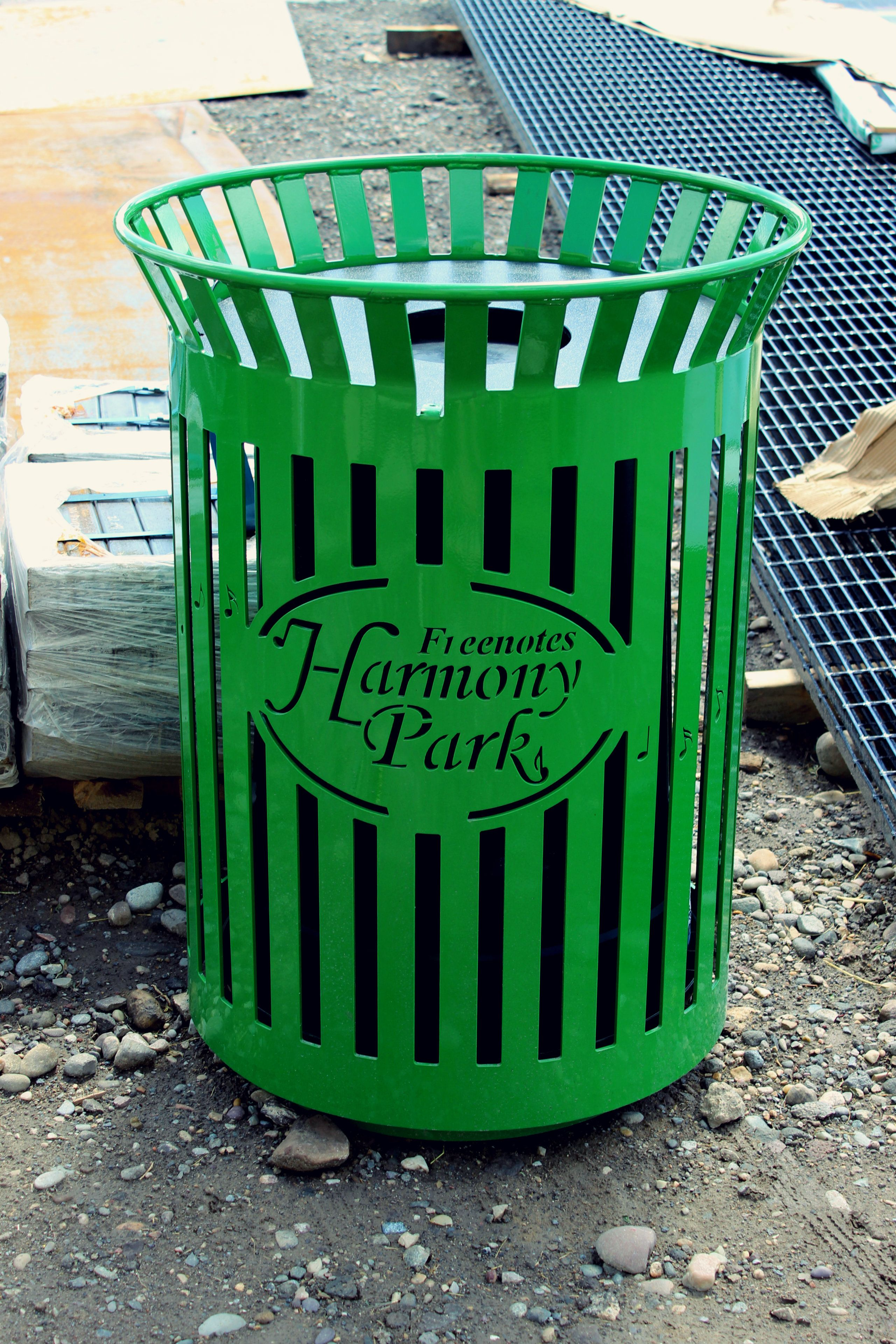 Our trash receptacles are the best on the market. Their sleek and professional look is complimented by a powder coating color of the buyer's choice. This product is perfect for your home, business, or community. Check out our line of trash receptacles today! http://www.premiersitefurniture.com/