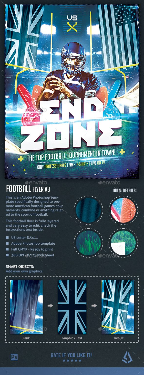 This Is An American Football Flyer Adobe Photoshop Template