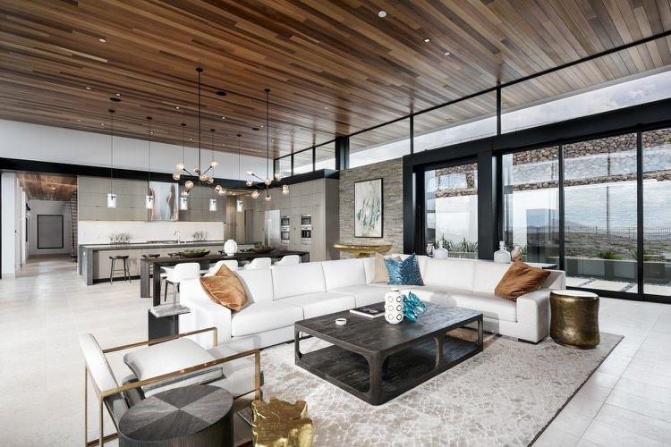 Offener Wohnbereich mit Küche und Essbereich Wohnzimmer
