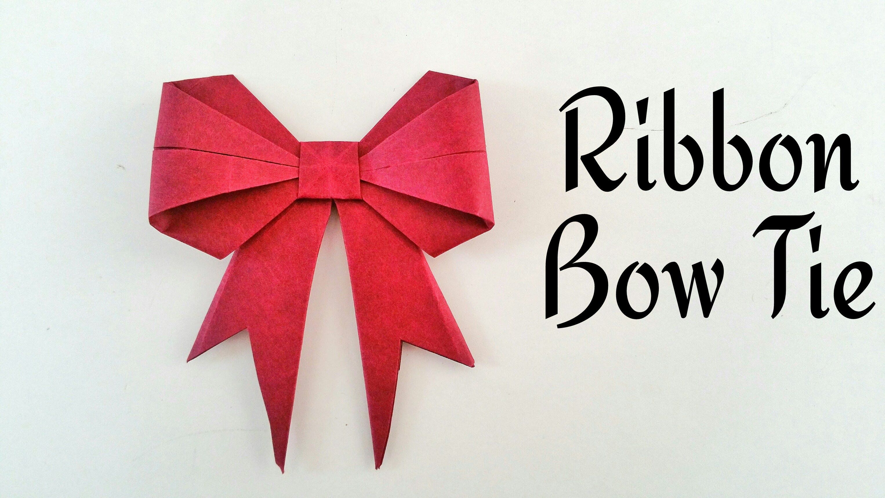How To Make A Paper Cute Ribbon Bow Tie Origami Craft Tutorial Origami Crafts Diy Bow Tie Origami