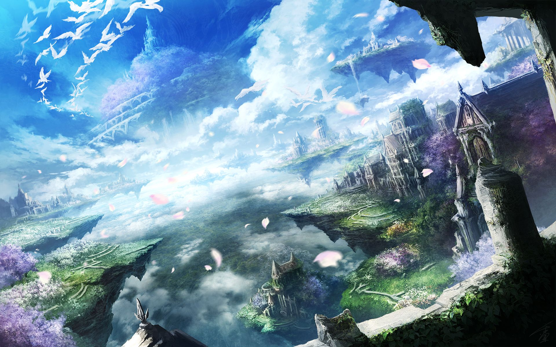 Beautiful Anime Landscapes Hd Wallpaper From Gallsource Com Seni Animasi