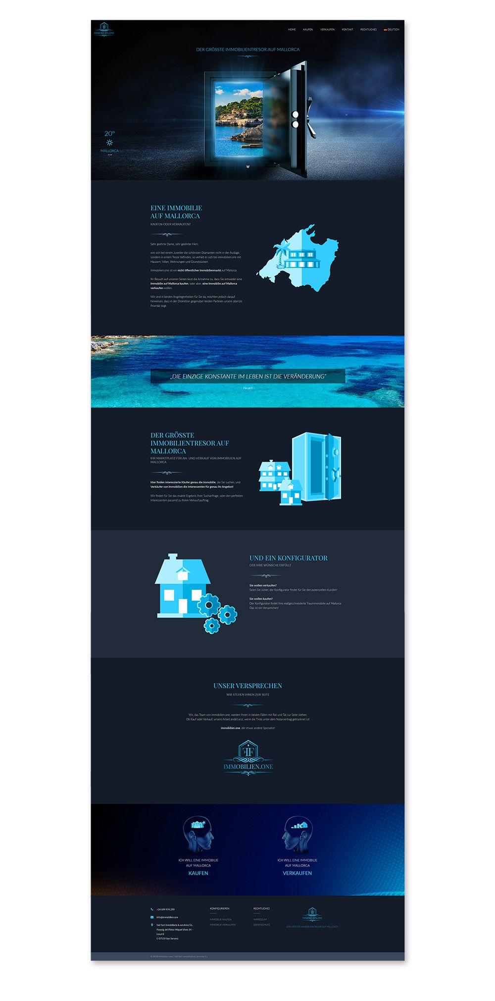 Webdesign Immobilien.one Immobilienanbieter Mallorca
