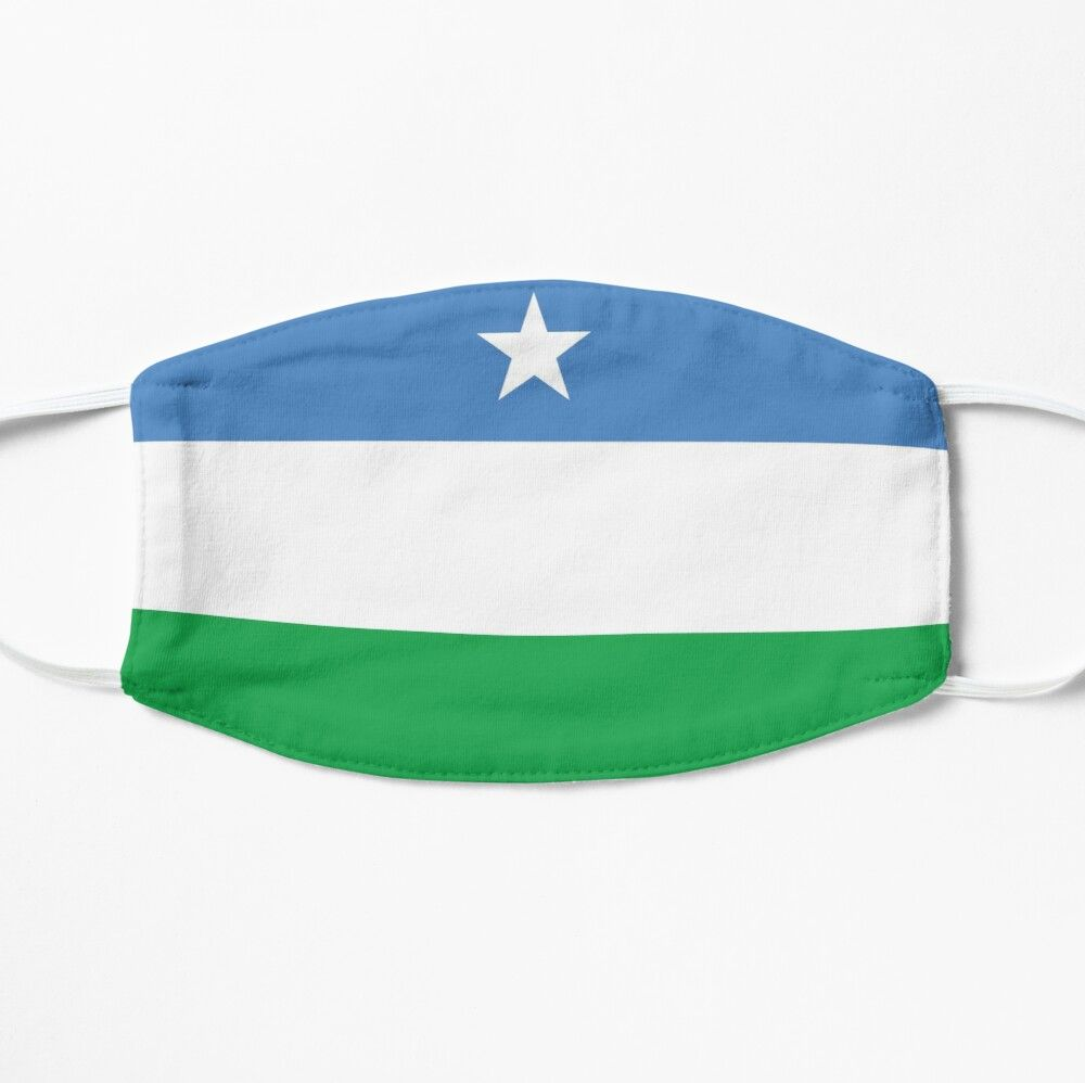 Flag Of Puntland Mask By Wickedcartoons In 2020 Mask Cotton Tote Bags Flag