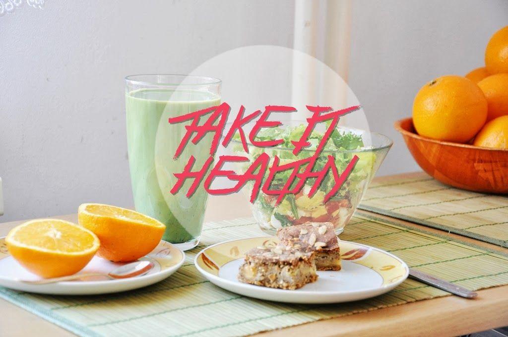 Healthy breakfast idea & green matcha coffee | Sztuka Studiowania - Art of Studying