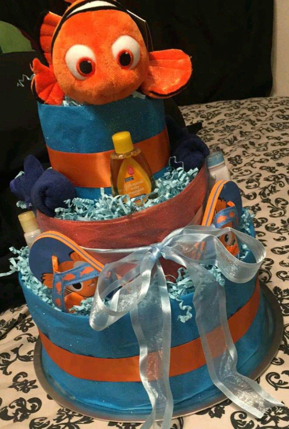 Diy Finding Nemo Diaper Cake Baby Shower Finding Nemo Ideas