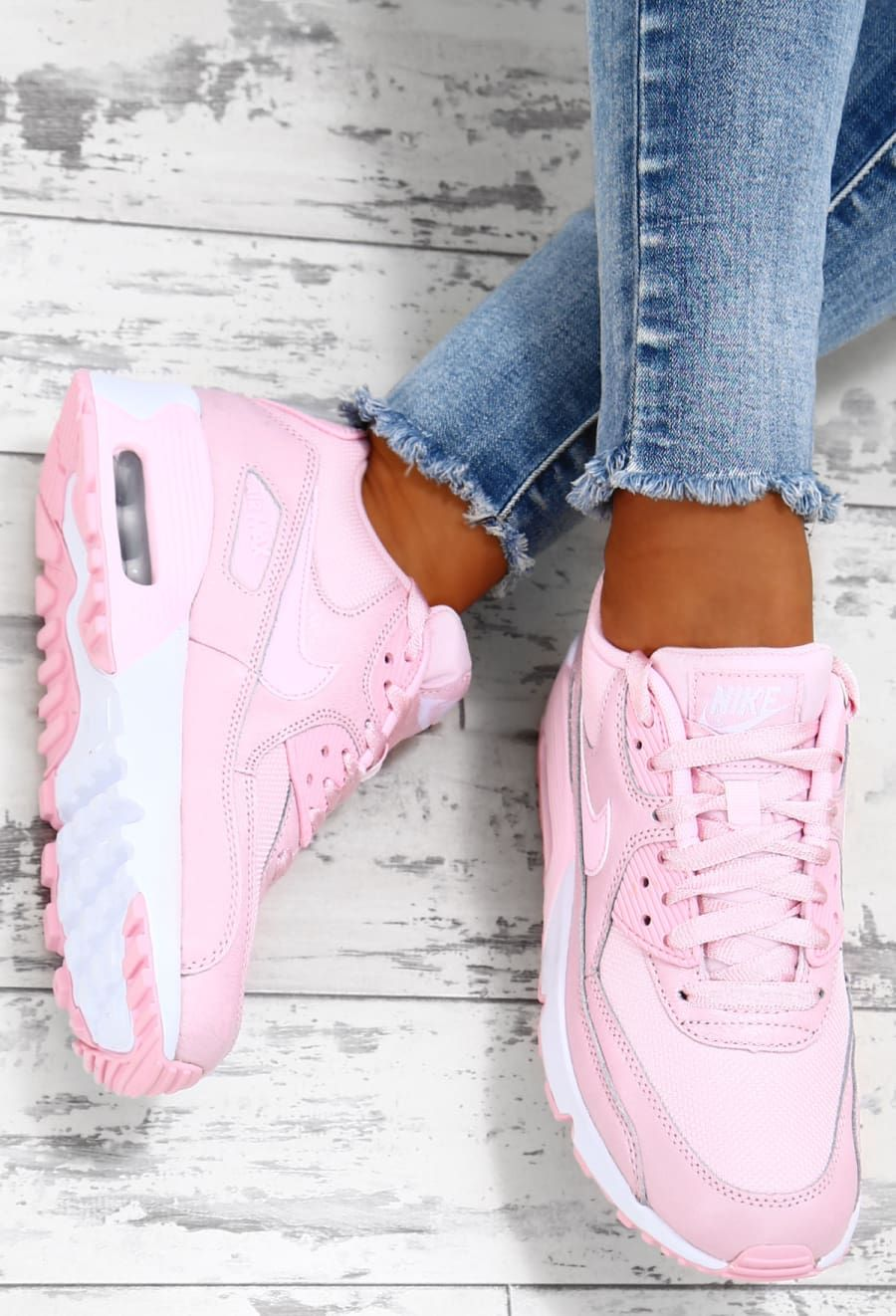 ladies white nike air max 90 trainers