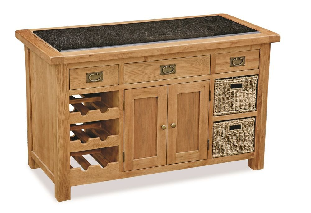 Zelah - Oak Granite Top Kitchen Island / Butchers Block / Solid Oak Waxed Style in Home, Furniture & DIY, Furniture, Kitchen Islands & Carts | eBay